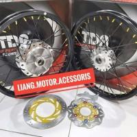 Sepaket Velg TDR W Shape 140 140 Ring 17 Tromol Jari - Jari Ninja R