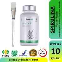 Masker Wajah Spirulina TIENS 100% Original - 10 Kapsul + Kuas