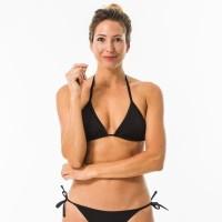 Olaian Atasan Bikini Hitam Basic Decathlon - 8331432