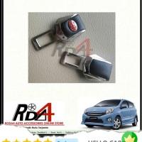 Mobil Colokan Seatbelt Seat Belt Safety Logo Toyota Kulit Agya
