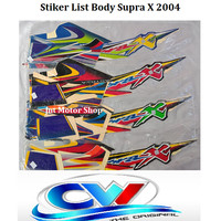 Sticker List Body Supra X 2004