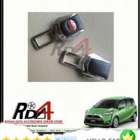 Mobil Colokan Seatbelt Seat Belt Safety Logo Toyota Kulit Sienta