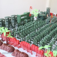 520pcs/Set Military Model Playset Toy Soldier Army Men 5cm Action