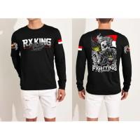DaveCollection - Kaos lengan Panjang Pria RX KING FIGHTING SPIRIT FN11