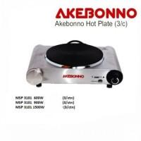 Kompor Listrik 1 Tungku Inox Hot Plate Akebonno MSP-3101 1500 1500Watt