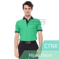Kaos Polo Shirt Polos CTN K Hijau Daun Esperanza Cotton Pique Grosir