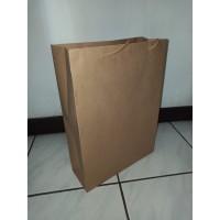 PAPER BAG KRAFT UK. 26x10x38 BAGIAN DALAM WATERPROOF TALI KUR