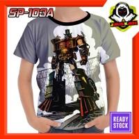 Kaos Optimus Prime Steam Engine baju Robot Anak Transformers