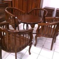 kursi tamu Betawi 4 kursi + 1 meja makan Betawi asli jepara