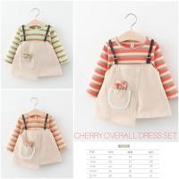 Cherry Overall Dress Set/ Dress Anak