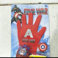 Mainan Anak Laki-Laki Tembakan CAPTAIN AMERICA Glov 3D CAPTAIN AMERICA