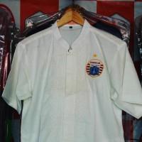 Setiashop494 Baju Koko Logo Persija - Putih, L
