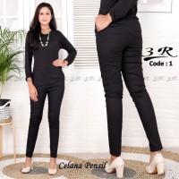 Celana Pensil Panjang Polos XXL Cotton Legging Pants Wanita Putri