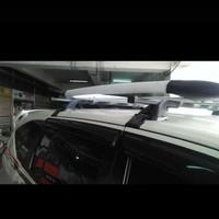 roof rak bagasi atas + cross bar mobil calya /Sigra merek sun rack