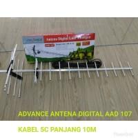 antena tv led lcd digital advance aad 107/ aad107 luar ruangan full hd