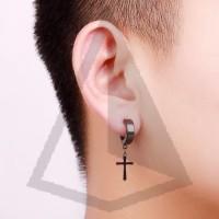 PREMIUM Anting Pria Salib ( Earrings )