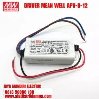 DRIVER MEAN WELL APV-8-12 power supply MEANWELL 8watt 12volt