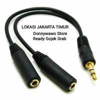 Splitter Dual Output Jack 3.5mm Audio Aux Spliter Earphone Speaker