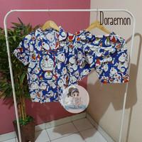 PIYAMA CELANA PENDEK HP / BAJU TIDUR KATUN WANITA Murah   Motif Kartun - Doraemon