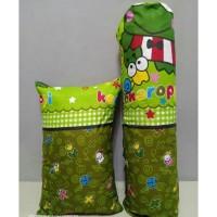 paket sarung bantal dan sarung guling motif karakter keroppi
