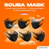 6 pcs ORIGINAL FOXTAIL Premium Scuba masker Kain Mask non medis