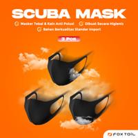3 pcs ORIGINAL FOXTAIL Premium Scuba masker Kain Mask non medis