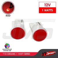 Lampu LED Senja / Wedge Side T10 W5W 6 COB Ceramic LED 1W - Merah