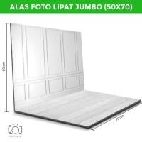 Alas Foto Lipat Jumbo Dinding Putih & Kayu /Background Foto (BJ-01)