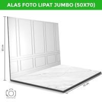 Alas Foto Lipat Jumbo Dinding Putih & Marmer /Background Foto (BJ-05)
