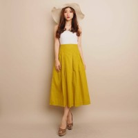 Rok Wanita / Bawahan Wanita / YOVITA SKIRT / Skirt Bahan Linen Uniqlo