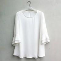 BAJU ATASAN/ [NEW] Blouse Wanita Big Size 2L, 3L, 4L & 5L Warna Putih