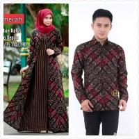 Baju dress gamis cardi wanita couple batik sarimbit kemeja pria motif