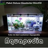 Paket Aquarium Deluxe Gex Glassterior Slim450