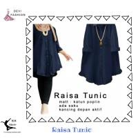DEVI 64142 RAISA TUNIC Baju Fashion Busana Wanita Model Terbaru - Biru