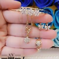 xuping set perhiasan anak lapis emas 24k 4l03