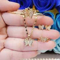 xuping set perhiasan anak lapis emas 24k 4l24