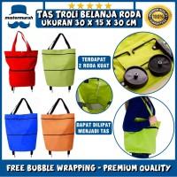 TAS TROLI BELANJA LIPAT RODA SERBAGUNA - TROLLY TROLY SHOPPING BAG