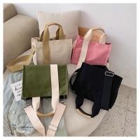 Tas Selempang Wanita Bahan Kanvas Premium - Glummy Bag