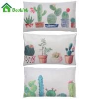 !♢♦Sarung Bantal Katun Kaktus Pola Tebal 30 x 50