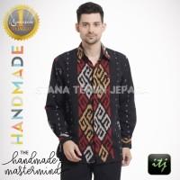 Baju Kemeja Pria Tenun Blanket Batik Gaya