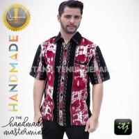 Kemeja Tenun Pria / Hem Formal / Baju Tenun Blanket Lengan Panjang