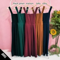 Baju kodok rok jumpsuit wanita / cewek warna polos muslimah cantik