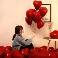 Balon Latex/Lateks Bentuk Hati/Love Pomegranate/Pome Red Size 10 inch