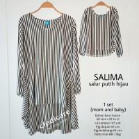 Mamigaya Baju Atasan Hamil dan menyusui Salima Couple Salur Navy Hijau