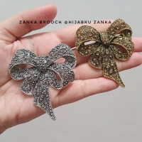 bros pita ethnic (ribbon brooch) - Silver
