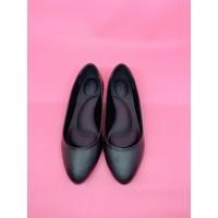 Sepatu Kerja Wanita Hitam / Pink Flat Shoes 100% Genuine Leather