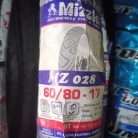 Ban Motor Merk Mizzle, Ukuran 60/80-17 MZ 028, bukan ban Tubeless