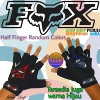 FOX Sarung Tangan Motor Setengah Jari Half Finger 1 Pasang Warna Acak