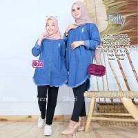 Baju Atasan Ibu &Anak Muslim Tunik Polly Couple