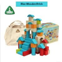 ELC Wooden Bricks 100pcs Mainan Balok Balokan Anak Blocks
